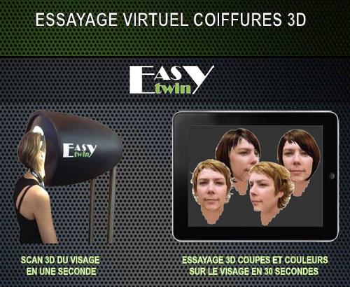 essayage virtuel de coiffure
