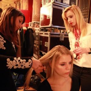 L'ISEC coiffe les mannequins du concours Podium Jeunes Stylistes