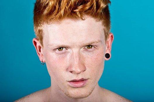 coiffure homme roux