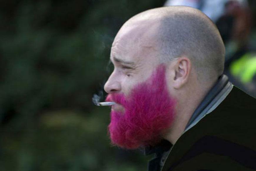 tendance masculine la coloration pour barbe - Coloration Barbe
