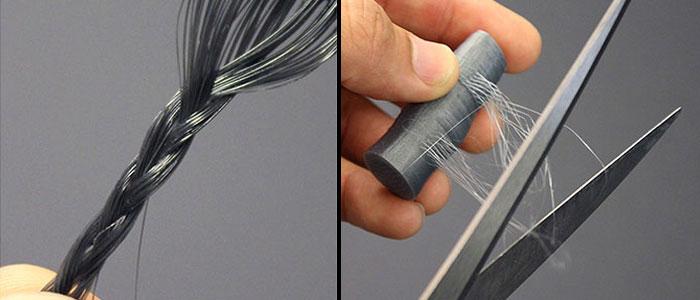Les cheveux artificiels peuvent être tressés et coupés