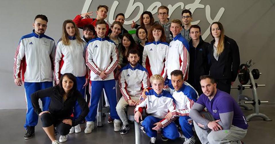 L'équipe de France lors de son stage