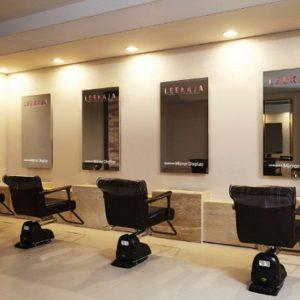 Un miroir tactile pour les salons de coiffure