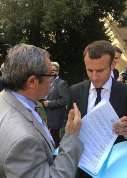 Didier Caplan et Emmanuel Macron