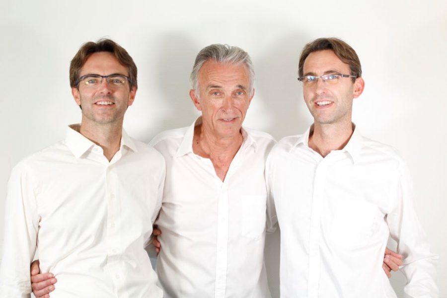 De gauche à droite : Anthony, Jean-François et Frédéric Desmars