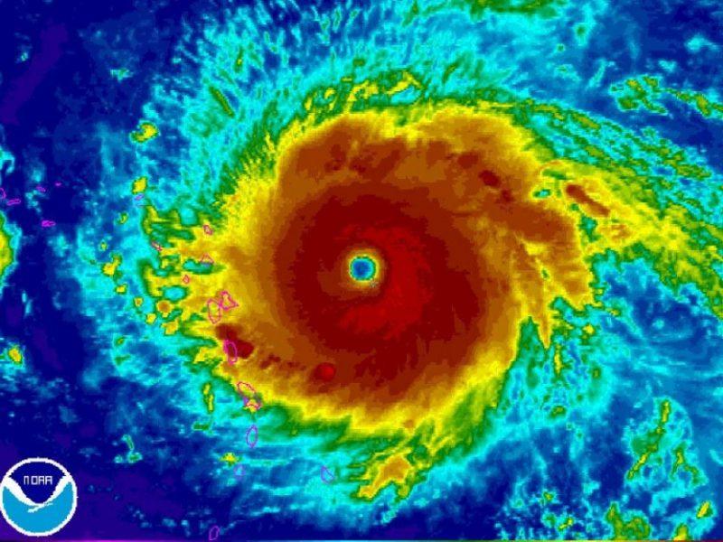 Ouragan Irma vue satellite