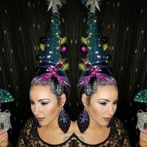 Noël coiffure : top 9 des créations folles !