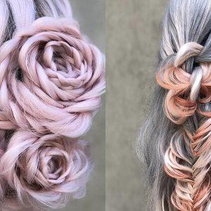 Alison Valsamis, la coiffeuse qui tresse les cheveux comme des roses