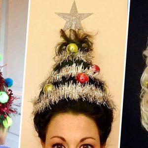 Le « Christmas Tree Hair », la plus joyeuse des tendances capillaires