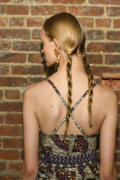 Défilé Ulla Johnson, coiffure : Bob Recine, photos Andrew Werner